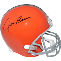Jim Brown Signed Browns Full Size Throwback Helmet (Steiner COA & Fanatics)