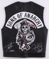 """Tommy Flanagan & Ryan Hurst Signed """"Sons of Anarchy"""" Vest Inscribed """"Chibs"""" & """"Opie"""" (Radtke COA)"""