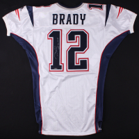 "2001 Tom Brady Signed Patriots Game-Used Jersey Inscribed ""SB 36 MVP"" (Mears LOA & TriStar Hologram)"