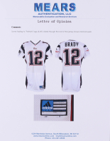 "2001 Tom Brady Signed Patriots Game-Used Jersey Inscribed ""SB 36 MVP"" (Mears LOA & TriStar Hologram) at PristineAuction.com"