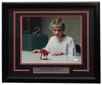 """Millie Bobby Brown Signed """"Stranger Things"""" 11x14 Custom Framed Photo Display Inscribed """"011"""" (JSA COA)"""