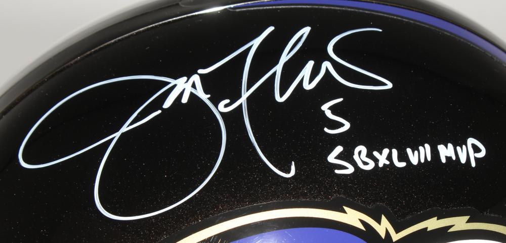 ce40174bb Joe Flacco Signed Ravens Full-Size Helmet Inscibed
