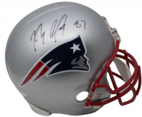 Rob Gronkowski Signed New England Patriots Full-Size Helmet (JSA COA)