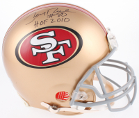 """Jerry Rice Signed San Francisco 49ers Full Size Authentic On-Field Helmet Inscribed """"HOF 2010"""" (Rice Hologram)"""