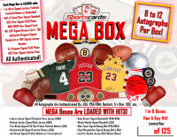 MEGA Box - Sportscards.com Autographed Mystery Box 8 to 12 Items Per Box! at PristineAuction.com