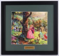 "Thomas Kinkade Walt Disney's ""Sleeping Beauty"" 17x18 Custom Framed Print"