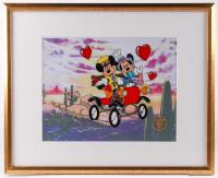 "Walt Disney Mickey & Minnie Mouse ""Nifty Ninties"" 17x21 Custom Framed Limited Edition Serigraph Cel"