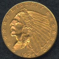 1925 $2.50 Indian Head Quarter Eagle Gold Coin