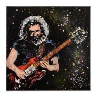 "KAT Signed ""Jerry & Rosebud"" 30x30 Original Acrylic Painting on Canvas"