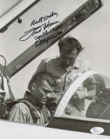"""Fred Haise Signed 8x10 Photo Inscribed """"Best Wishes, Apollo 13 LMP"""" & """"Enterprise CDR"""" (JSA COA)"""