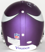 """Adam Thielen Signed Vikings Custom Matte Purple Authentic On-Field Full-Size Helmet Inscribed """"Made in MN"""" & """"Undrafted & Unstoppable"""" (TSE COA) at PristineAuction.com"""