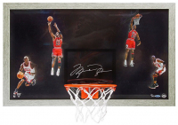 "Michael Jordan Signed Chicago Bulls ""Winning"" 18.5x30.5 Custom Framed Limited Edition Backboard Display (UDA COA)"
