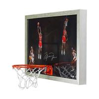 "Michael Jordan Signed LE Bulls ""Winning"" 18.5x30.5 Custom Framed Backboard Display (UDA COA) at PristineAuction.com"