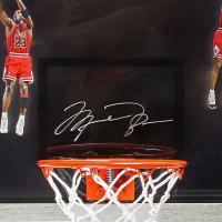 "Michael Jordan Signed Chicago Bulls ""Winning"" 18.5x30.5 Custom Framed Limited Edition Backboard Display (UDA COA) at PristineAuction.com"