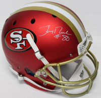 Jerry Rice Signed 49ers Full-Size Blaze Helmet (Beckett COA) at PristineAuction.com