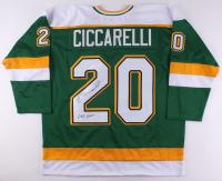 "Dino Ciccarelli Signed North Stars Jersey Inscribed ""608 Goals"" (JSA COA)"