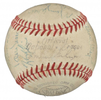 1968 Pirates ONL Baseball Team-Signed by (21) with Roberto Clemente, Maury Wills, Dock Ellis, Elroy Face, Bill Virdon, Manny Mota, Willie Stargell (PSA LOA)
