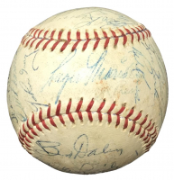 1957 Indians Baseball Team-Signed by (29) with Roger Maris, Dick Williams, Early Wynn (PSA LOA)