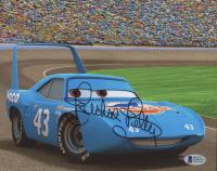"""Richard Petty Signed """"Cars"""" 8x10 Photo (Beckett COA)"""