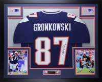 Rob Gronkowski Signed 35x43 Custom Framed Jersey (Beckett COA) at PristineAuction.com