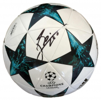 "Lionel ""Leo"" Messi Signed 2016/17 UEFA Champions League Soccer Ball Inscribed ""Leo"" (Messi COA)"