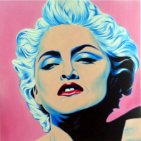 "Hector Monroy Signed ""Madonna"" 43.5x44 Original Oil Painting on Canvas (PA LOA)"