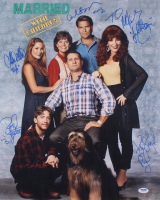 """""""Maried With Children"""" 16x20 Photo Signed by (6) With Ed O'Neill, Katey Sagal, David Faustino, Christina Applegate With (6) inscriptions (PSA LOA)"""