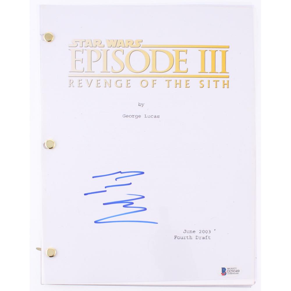 Ewan Mcgregor Signed Star Wars Episode Iii Revenge Of The Sith Script Beckett Coa Pristine Auction