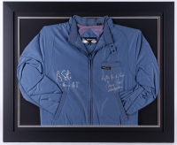"Ray Liotta & Henry Hill Signed Custom Framed 27.5x33.5 ""Members Only"" Jacket Display Inscribed ""Henry Hill"", ""Dig the f*** hole"" & ""Goodfellas""  (PSA COA & JSA COA)"