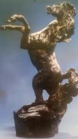 "LeRoy Neiman ""Defiant"" 1987 AP Bronze Sculpture #XXVIII/L"