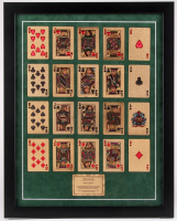 Gold Foil Playing Cards 18x22.5 Custom Framed Display