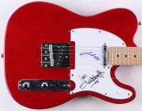 John Travolta & Olivia Newton-John Signed Full-Size Eleca Electric Guitar (JSA COA)