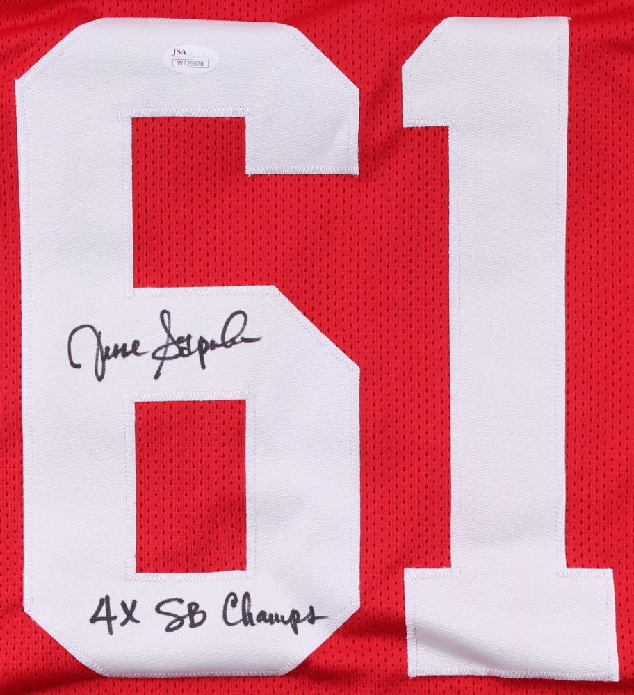 9a6c86339 Jesse Sapolu Signed San Francisco 49ers Jersey Inscribed