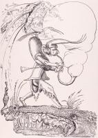 "Salvador Dali Signed ""Les Songes Drolatiques (Comical Dreams) de Pantagruel"" Smoking a Pipe 21x30 LE 1973 Lithograph on Archival Japon Paper #XLIII/L"