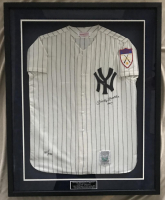 "Mickey Mantle Signed LE Yankees 1951 Rookie Year Mitchell & Ness 34x42 Custom Framed Throwback Jersey Inscribed ""No. 7"" (UDA COA)"