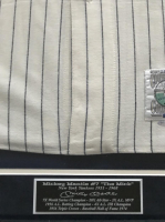 "Mickey Mantle Signed LE Yankees 1951 Rookie Year Mitchell & Ness 34x42 Custom Framed Throwback Jersey Inscribed ""No. 7"" (UDA COA) at PristineAuction.com"