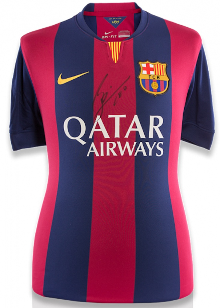 "Lionel Messi Signed Barcelona Jersey Inscribed ""Leo"" (Icons COA) at PristineAuction.com"