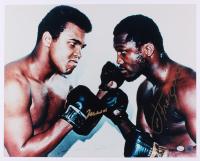 Muhammad Ali & Joe Frazier Signed 16x20 Photo (Online Authentics COA)