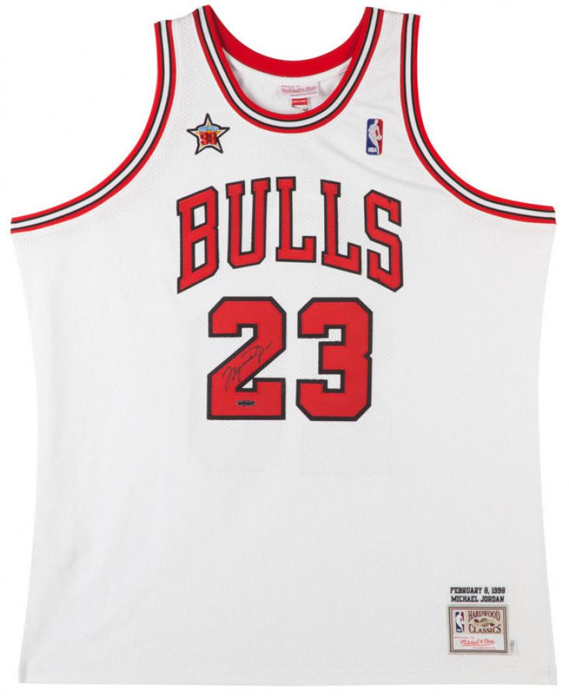 Michael Jordan Signed Bulls 1998 NBA All Star Authentic Mitchell & Ness Jerey (UDA COA) at PristineAuction.com