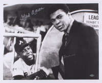 Muhammad Ali & Hank Aaron Signed 16x20 Photo (Steiner Hologram & Online Authentics COA)
