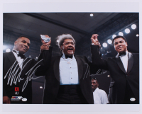Muhammad Ali & Mike Tyson Signed 16x20 Photo (Online Authentics COA)
