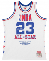 Michael Jordan Signed LE 1985 NBA All Star Authentic Mitchell & Ness Game Highlight Stat Jersey (UDA COA)