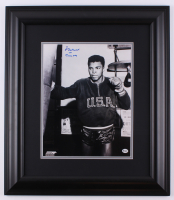 "Cassius Clay ""Muhammad Ali"" Signed 20.5x23.5 Custom Framed Photo (Online Authentics Hologram)"