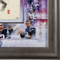 Tom Brady Signed New England Patriots 36x36 Custom Framed Limited Edition Tegata (UDA COA) at PristineAuction.com