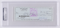 Jerry Garcia Signed Personal Bank Check (PSA Encapsulated)