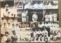 Lot of (53) Legends of the Game Matte Finished Sepia Tone 11x14 Photos with Babe Ruth, Joe DiMaggio, Thurman Munson, Hank Aaron, Ty Cobb, Lou Gehrig, Jimmie Foxx, Mickey Mantle, Willie Mays, Roger Maris, Jackie Robinson, Ted Williams, Yogi Berra at PristineAuction.com