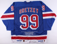 "Wayne Gretzky Signed LE Rangers Career Highlight Stat Jersey Inscribed ""1979-99"" (Gretzky COA)"