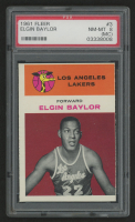 1961-62 Fleer #3 Elgin Baylor RC (PSA 8)(Miscut)