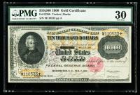 1900 $10,000 Ten-Thousand Dollar Gold Certificate (PMG 30 Very Fine, Fr. 1225h)