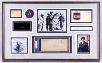 George S. Patton Signed 20x33 Custom Framed Memoribilia Display (PSA Encapsulated)